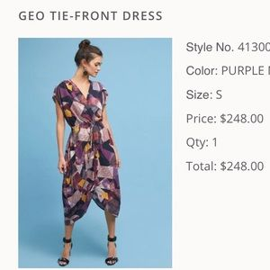 Anthropologie Geo Tie-Front Dress (S)